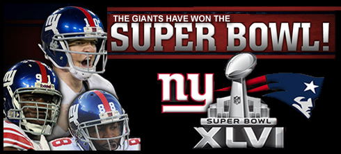 Giants Going to Super Bowl XLVI