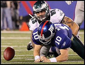 The Giants Lose to the Philadelphia Eagles