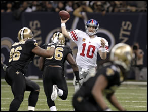 Giants vs. Saints on Novemeber 28th