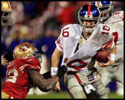 Giants vs 49ers in NFC Championship, 01/22/12