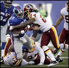 Redskins vs. Giants on 12/18/11
