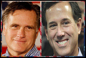 Mitt Romney and Rick Santorum finish in a virtual tie in the 2012 Iowa Caucuses