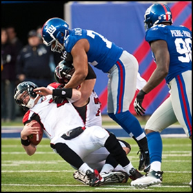 Giants Crush Falcons in NFC Wildcard