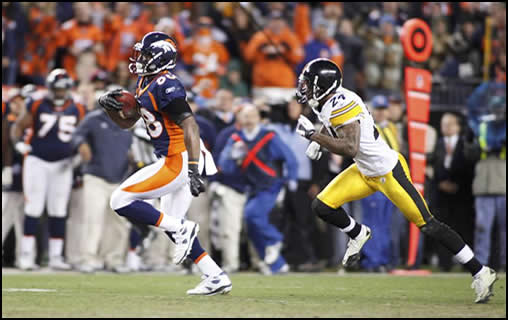 Damarius Thomas Gives the Broncos a Win Over the Steelers