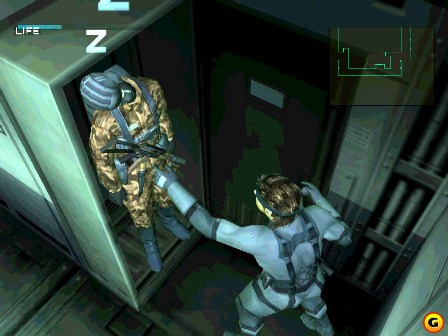 Snake hiding a body in a locker