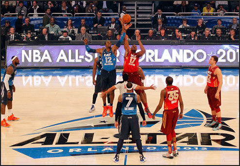 Tip-off at the 2012 All Star Game