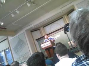 Smith speaking