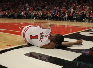 Derrick Rose is down