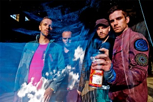 The members of Coldplay