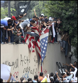 U.S. Embassy in Cairo, Egypt under Attack