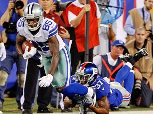 Giants trailing the Cowboys