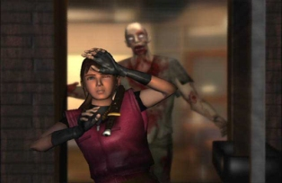 Claire Redfield in the games great graphics