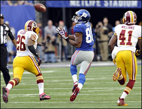 Victor Cruz's game-winning catch against the Redkins