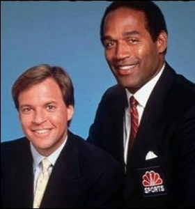 Bob Costas and OJ Simpson in the Early 1990s