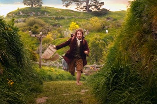 Bilbo setting off on his adventure