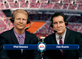 A fake Jim Nantz and Phil Simms