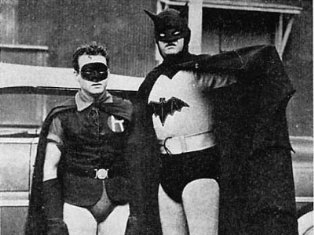 Old School Batman and Robin