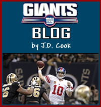 New York Giants Blog by J.D. Cook