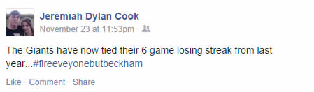 JD Cook Facebook post, 11/23/14