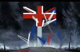 Union Jack To Grave Cross